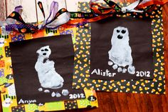 Ghost Footprints | Who Needs A Cape? #halloween #halloweencrafts #ghostcrafts #kidscrafts #halloweenfun