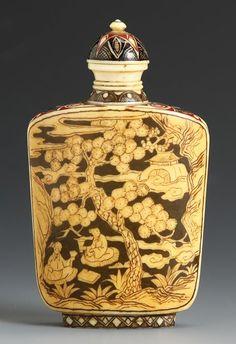 Carved Ivory Snuff Bottle
