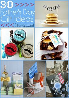 30 Fathers Day Gift Ideas - All perfect ideas for Dad or Grandpa on their special day!! { lilluna.com }