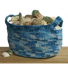Shell Catcher Basket - Premier Yarns free pattern, basket free, shell catcher, catcher basket, premier yarn, chrochet basket, crochet patterns