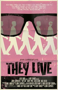 They Live minimal movie poster designed by Mark Welser
