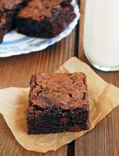 Vegan Zucchini Brownies  from The Live-In Kitchen.