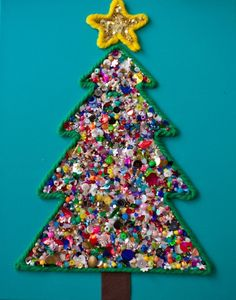 Love this tree made of crafty odds and ends