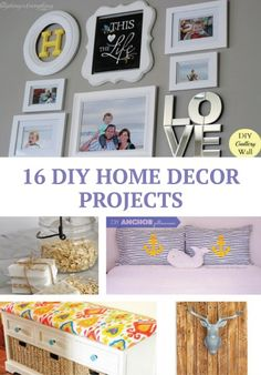 Try some of these 16 home decor ideas this weekend to update any room in your home. :) | Easy DIY Projects