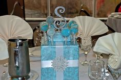 Cake Pop Centerpieces @ my bridal shower <3 <3 <3