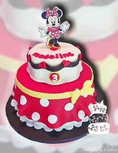Minnie Mouse Skirt 3rd Birthday cake