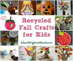 Recycled Fall Crafts for Kids - Inheriting Our Planet