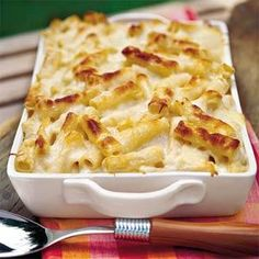 Three-Cheese Pasta Bake - Using a combination of ricotta, sour cream and Parmesan brings great flavor to this penne dish.