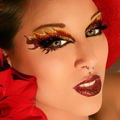 Fire Eyes Makeup