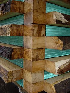 unusual...?     timber and glass block walls . the dairy house, somerset, england, architects - Skene Catling de la Pena