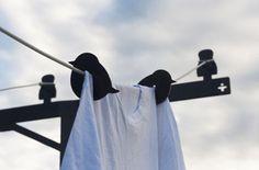 Bird Clothesline clotheslines, bird clotheslin, vans, little birds, art, laundry, clothes lines, design, clothespins