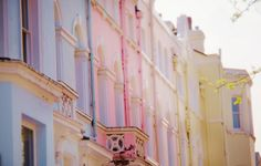 pastels, houses, cotton candy, inspiration, dream homes, candi, notting hill, pink, pastel colors