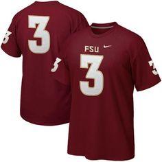 Nike Florida State Seminoles (FSU) #3 Replica Football Player T-Shirt - Garnet