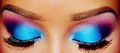 neon eyeshadow faded---white,silver,baby blue, dark blue, purple, pink