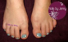 Glitter Toes with Baby Feet  --  Nails by Jenny in St. George, Utah