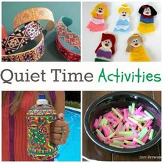 Because we can all use a little peace and quiet...Fun Quiet Time Activites for All Ages