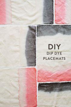DIY dip dye placemats | designlovefest