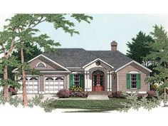 Eplans Cottage House Plan - Elegant Traditional Neighborhood Home - 1392 Square Feet and 3 Bedrooms from Eplans - House Plan Code HWEPL08981...