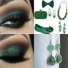 makeup per un matrimonio dark green
