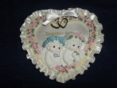 "6"" DREAMSICLES angels ""TOGETHER FOREVER"" Wedding Collection Wall Plaque"