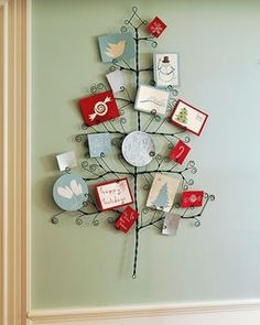 Very cute Christmas tree wall decoration!