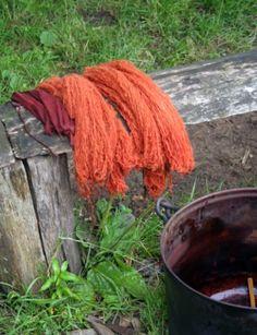 madder dyed wool