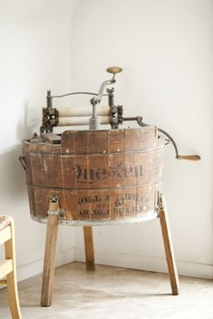 Vintage Wood Washing Machine
