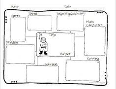 Story Map Freebie for fictional books