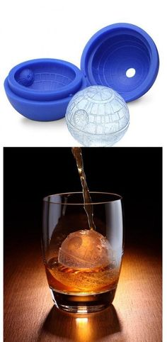 Death Star Ice Cube Tray.  I thought you would enjoy this- @Jessica Haeder