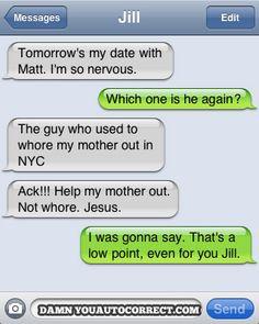 funny auto-correct texts - The New Guy