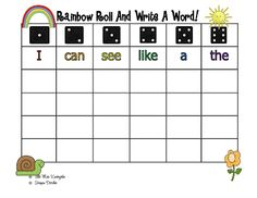 Little Miss Kindergarten - Lessons from the Little Red Schoolhouse!: Rainbow Words Freebies!