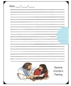 Didi @ Relief Society: General Women's Meeting note card page - quickly r...
