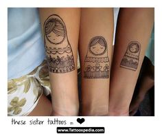 LOVE this sister tattoo idea