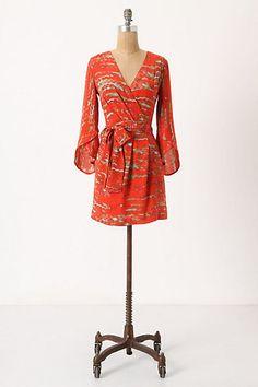 wrap dresses, summer dresses, vermillion reflect, color, burnt orange