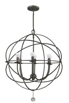 6 Light in the Bronze Color - Solaris Chandelier - Chandeliers - Ceiling Fixtures - Lighting | HomeDecorators.com