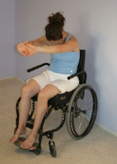Wheelchair yoga.