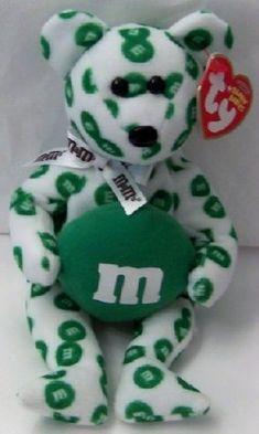 M'S Green Bear Ty Beanie Babies