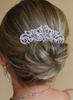 Vintage Style  Bridal Hair comb Crystal Wedding Hair by JamJewels1