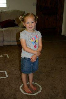 Puddle Wonderful Learning: Preschool Activities: Floor Shape Songs