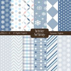 Winter Whimsy Digital Paper (Commercial Use OK)