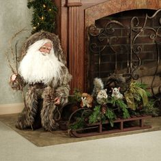 Stone Soup Limited Edition Handmade Powderhorn Santa