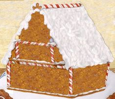 Design your own gingerbread house card via Jan Brett