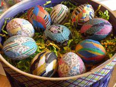 DIY MOM: Patchwork Fabric Eggs