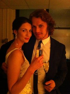 Caitriona Balfe and Sam Heughan #Outlander