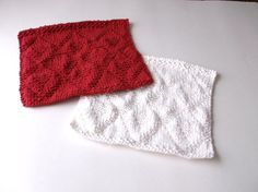 Knitted Valentine Dishcloths Knit Valentine Lattice by IDoYarn