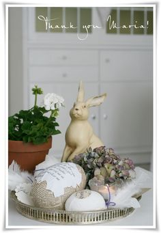 Pretty white Easter decoration