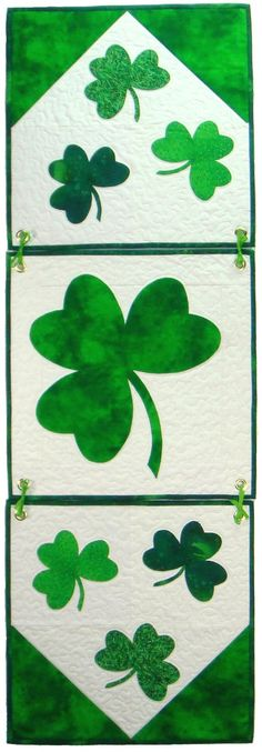 Lucky Seven- a St Patrick's Day quilt banner!