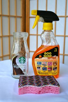 how to clean and use Starbucks Frappuccino bottles for your party