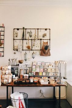 retail displays, shop displays, negative space, shops, california, card displays, store displays, hello friend, shabby chic interiors