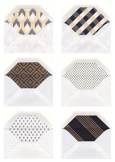Line envelopes prints